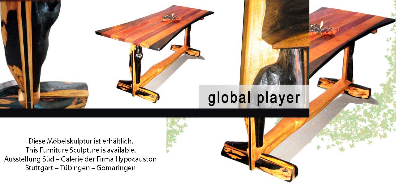 Global Player Tisch upcycling Möbelunikat